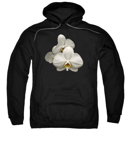 White Orchids Sweatshirt by Rose Santuci-Sofranko
