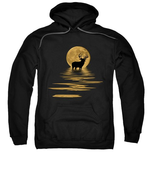 Whitetail Deer In The Moonlight Sweatshirt