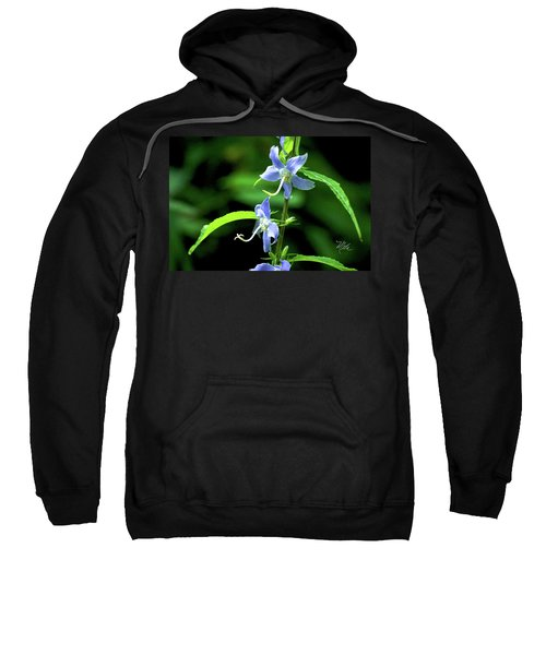 Wild Blue Flowers Sweatshirt
