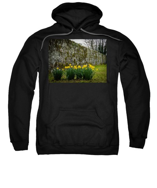 Sweatshirt featuring the photograph Wild Daffodils At Coole Park by James Truett