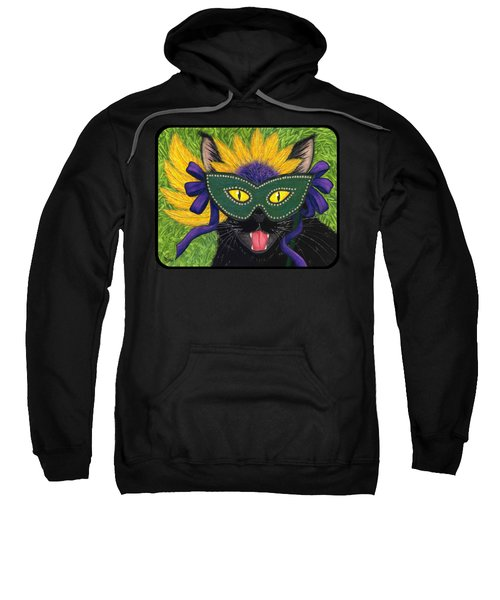 Wild Mardi Gras Cat Sweatshirt
