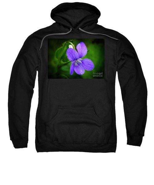 Wild Violet Flower Sweatshirt