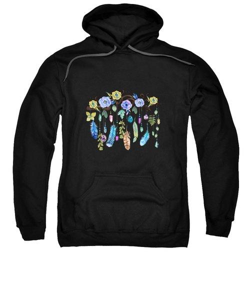 Wild Wood Roses And Twisted Branches Spirit Gazer Sweatshirt