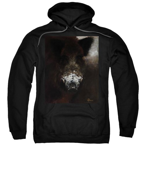 Wildboar With Snowy Snout Sweatshirt