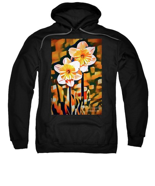 Wildly Abstract Daffodil Pair Sweatshirt