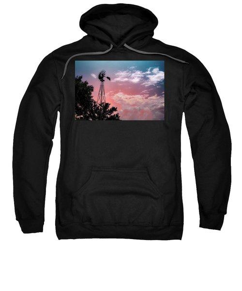 Windmill At Sunset Sweatshirt