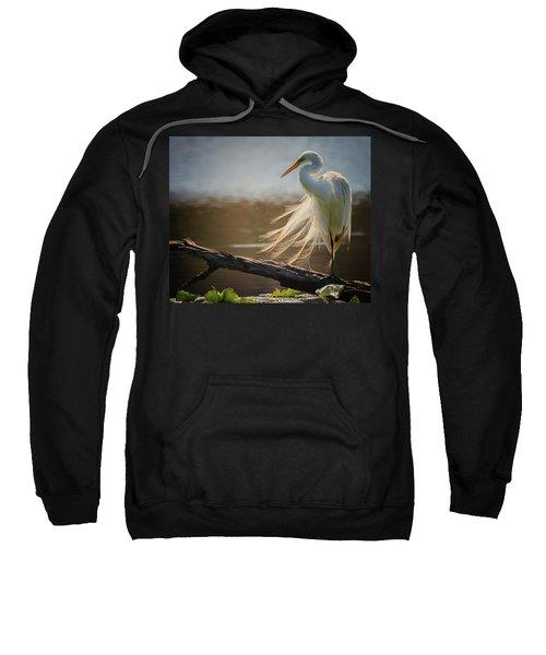 Windy Egret  Sweatshirt