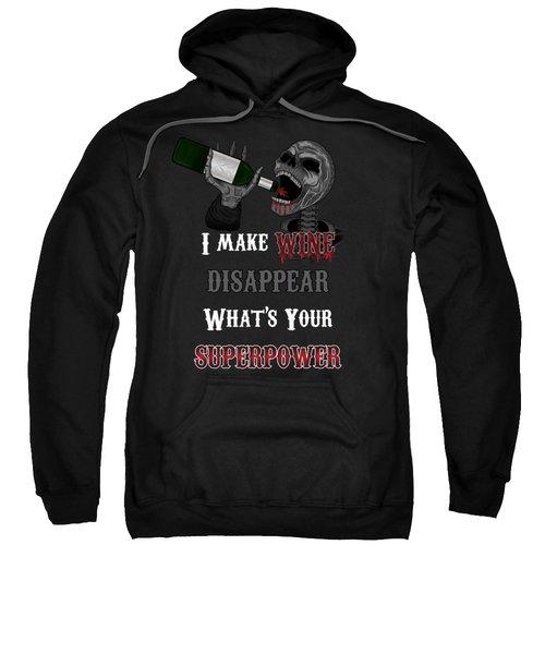 Wine Superpower Skeleton Fantasy Art Sweatshirt