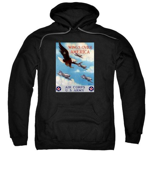 Wings Over America - Air Corps U.s. Army Sweatshirt