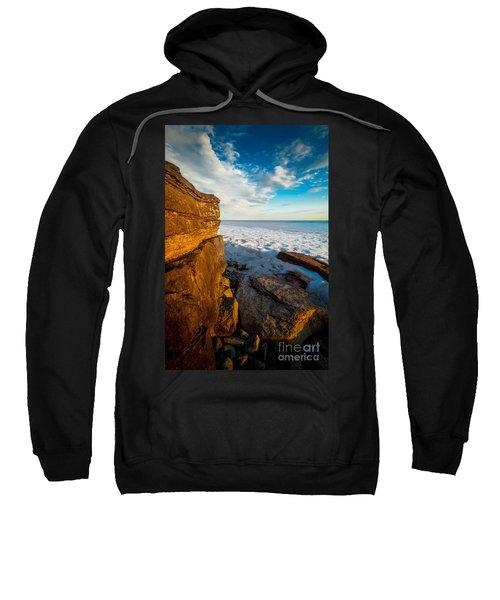 Winter Beach Sunset Sweatshirt