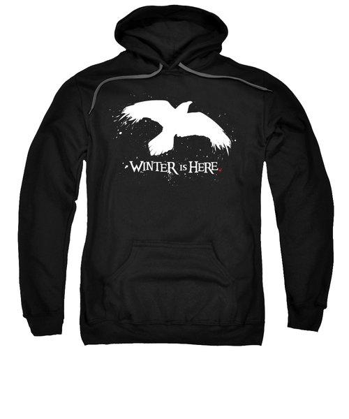 Winter Is Here - Large Raven Sweatshirt