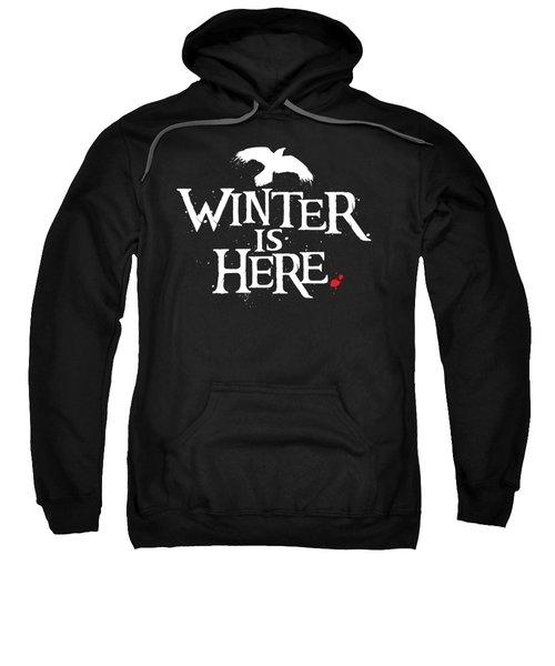 Winter Is Here - White Raven Sweatshirt