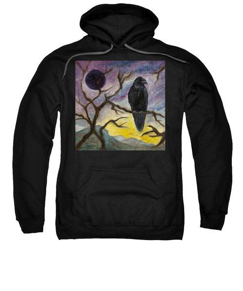 Winter Moon Raven Sweatshirt