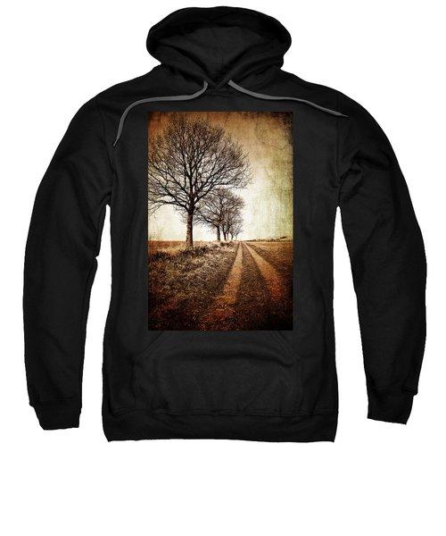 Winter Track With Trees Sweatshirt