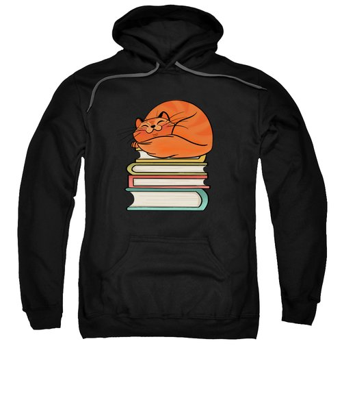 With Books And Cats Life Is Sweet Sweatshirt