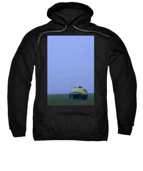 Wolverine Helmet On The Field In Heavy Fog Sweatshirt