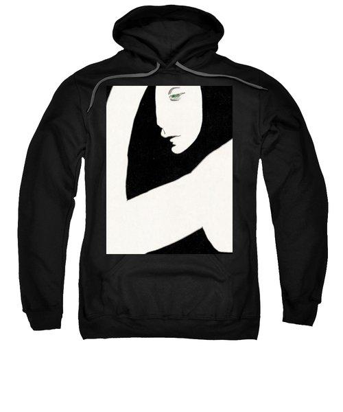 Woman In Shadows Sweatshirt