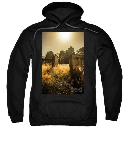 Wooden Fence With An Open Gate Sweatshirt