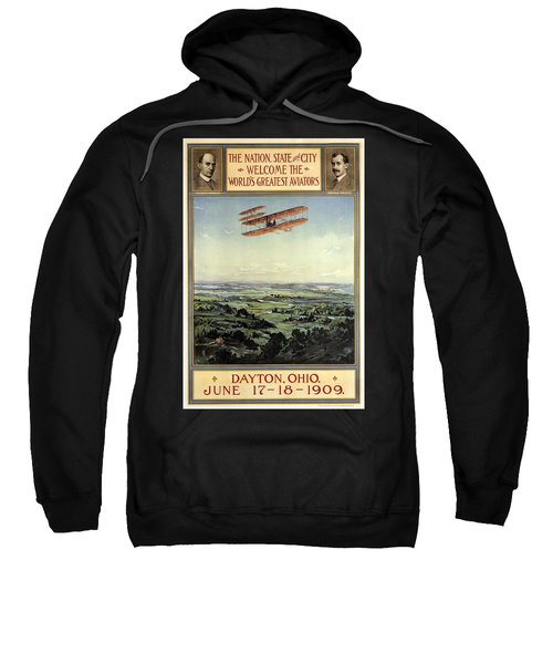 Wright Brothers - World's Greatest Aviators - Dayton, Ohio - Retro Travel Poster - Vintage Poster Sweatshirt