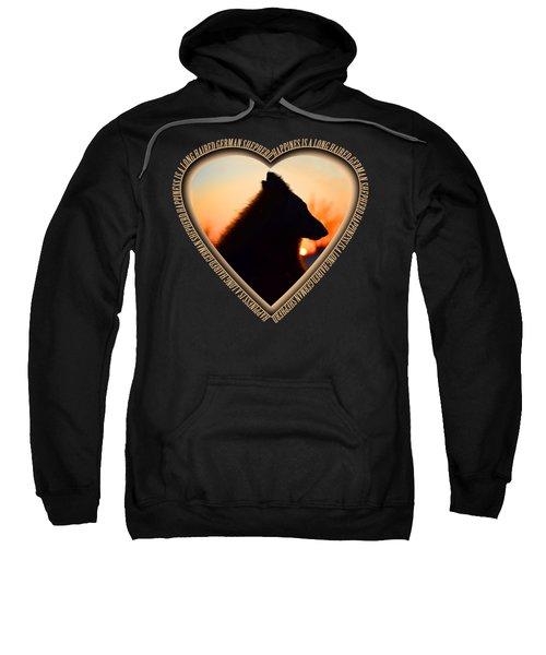 Wuffstar Happiness Is A Long Haired German Shepherd Heart Sweatshirt