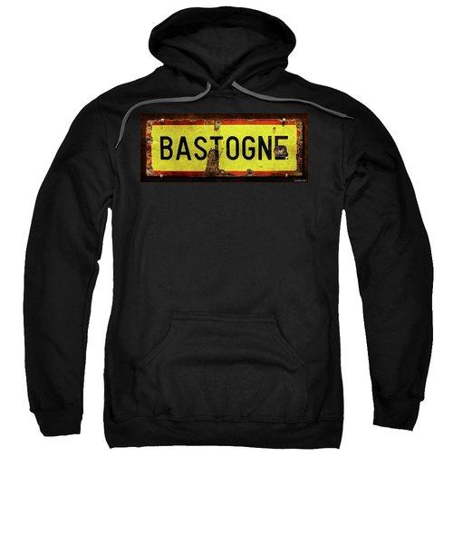 Wwii Bastogne Town Sign Sweatshirt