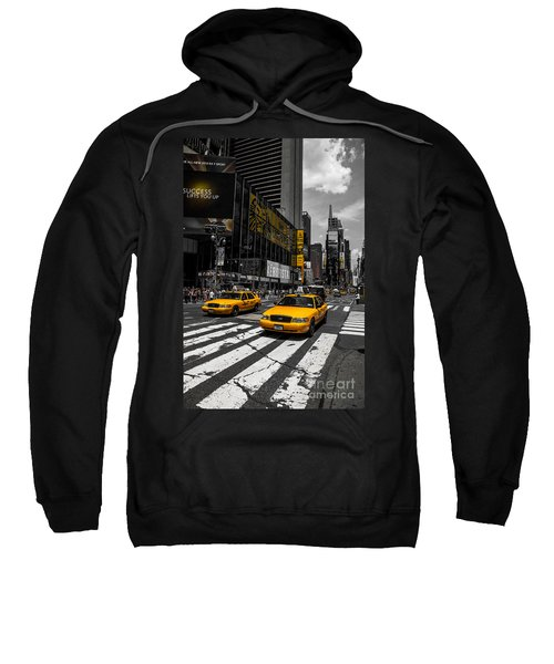 Yellow Cabs Cruisin On The Times Square  Sweatshirt