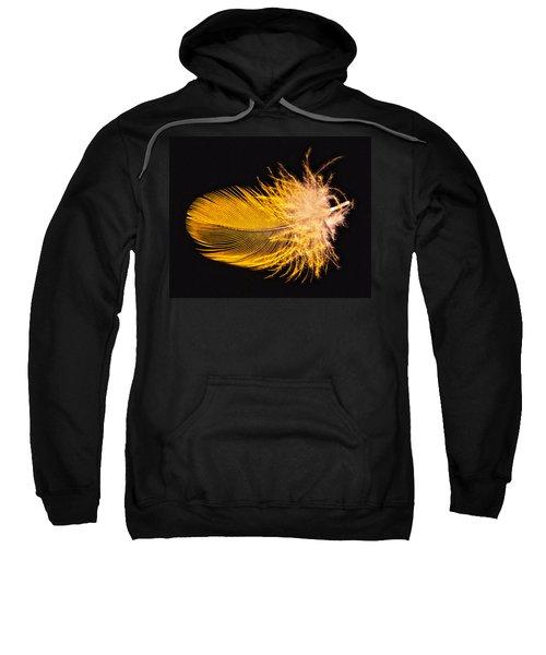 Yellow Feather Macro Sweatshirt
