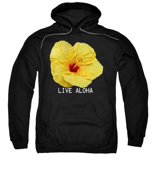 Yellow Hibiscus Sweatshirt