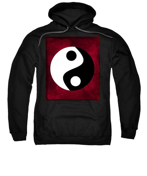 Yin And Yang - Dark Red Sweatshirt