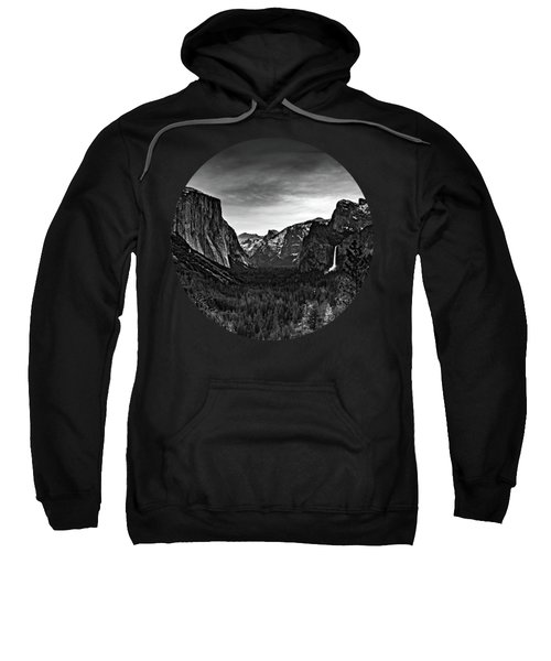 Yosemite Sunrise, Black And White Sweatshirt