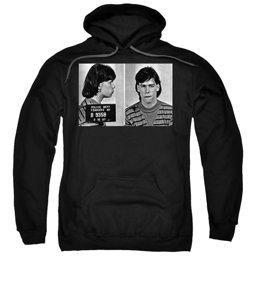 Young Steven Tyler Mug Shot 1963 Pencil Photograph Black And White Sweatshirt