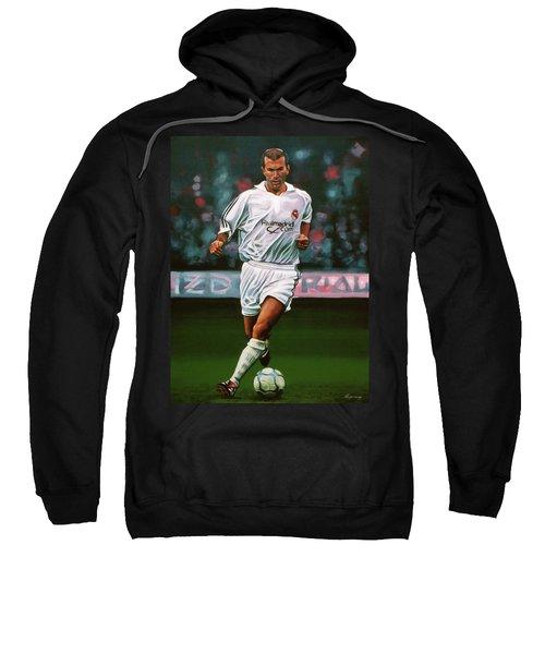 Zidane At Real Madrid Painting Sweatshirt