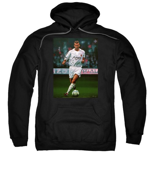 Zidane At Real Madrid Painting Sweatshirt