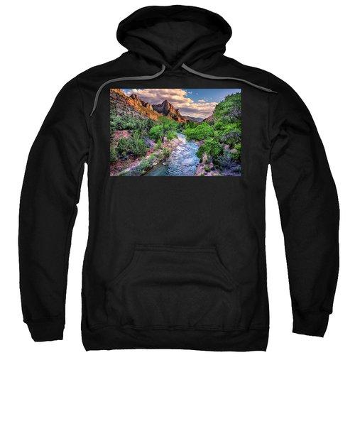 Zion Canyon At Sunset Sweatshirt
