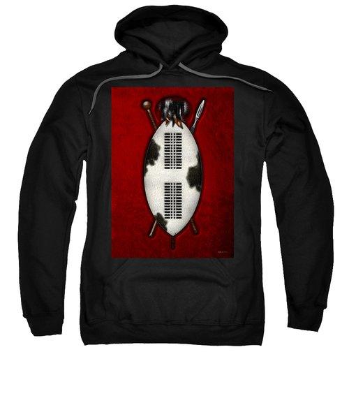 Zulu War Shield With Spear And Club Sweatshirt