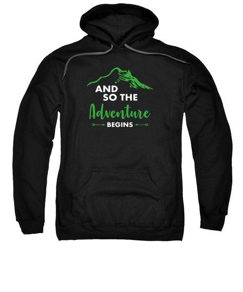 Funny Hiking Mountains Alps Nature Hiker Gift Sweatshirt