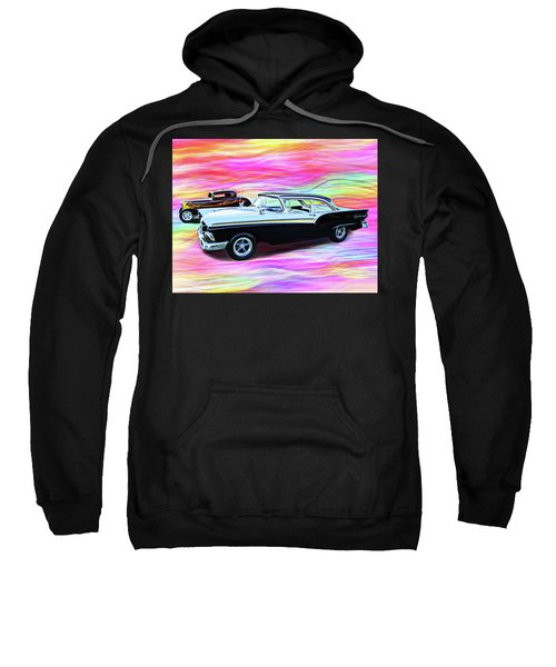 1932 And 1957 Fords Sweatshirt