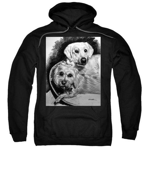 2 Dogs In A Basket Sweatshirt