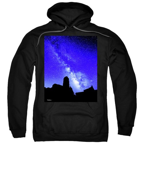 The Milky Way Over The Crest House Sweatshirt