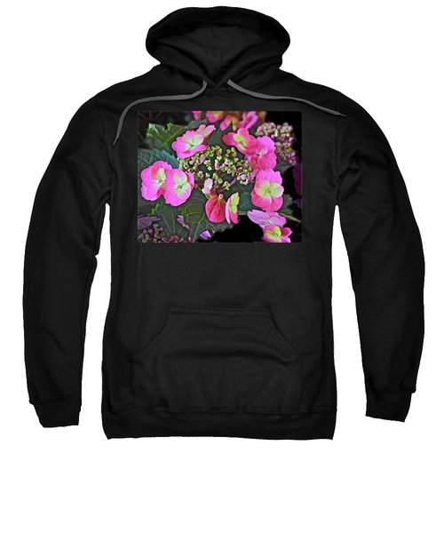 2019 June At The Gardens Tuff Stuff Hydrangea Sweatshirt