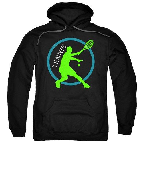 Tennis Player Ball Racket Serve Game I Love Tennis Sweatshirt