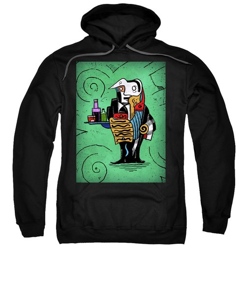 Sweatshirt featuring the painting Absinthe by Sotuland Art