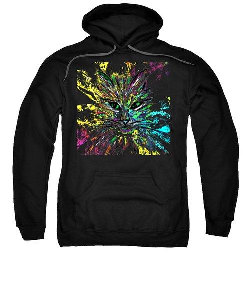 Abstract Cat  Sweatshirt