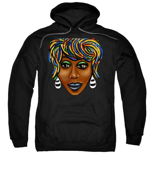 Abstract Art Black Woman Retro Pop Art Painting- Ai P. Nilson Sweatshirt
