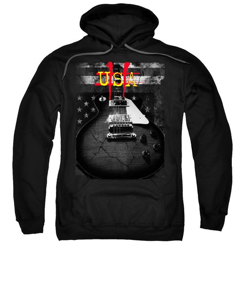 Abstract Relic Guitar Usa Flag Sweatshirt