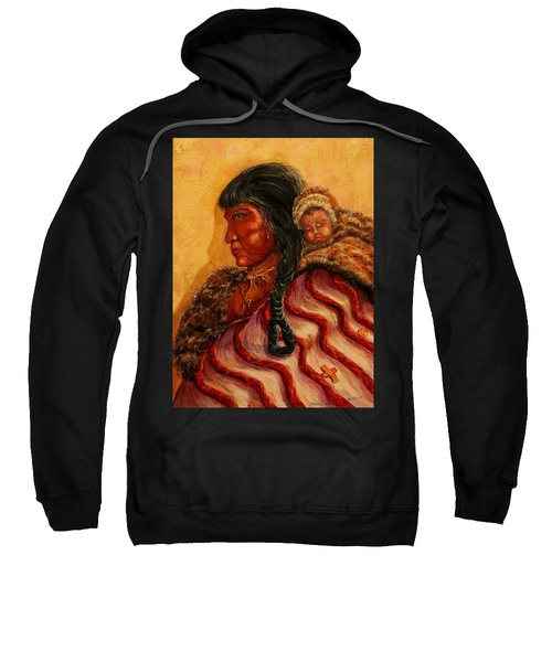 American Indian Mother And Child Sweatshirt