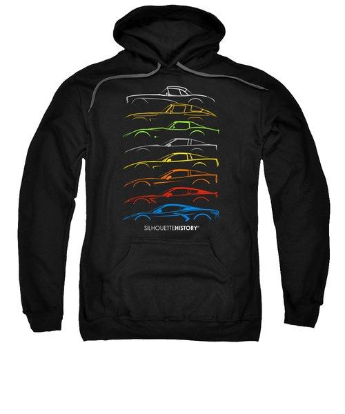 American Sports Car 8g Silhouettehistory Sweatshirt