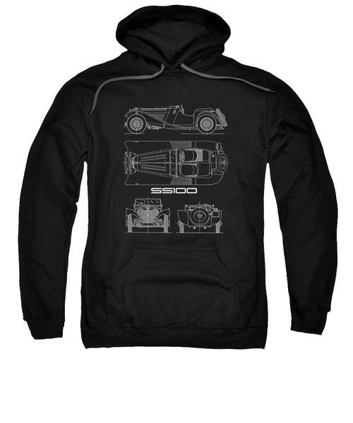 Jaguar Ss100 Blueprint Sweatshirt