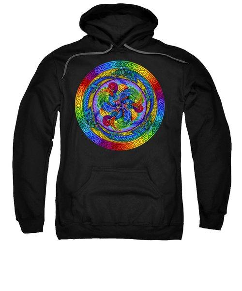 Psychedelic Dragons Rainbow Mandala Sweatshirt