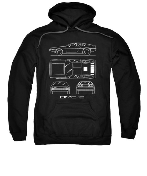 The Delorean Dmc-12 Blueprint Sweatshirt
